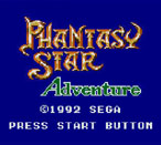 Phantasy Star Adventure title screen